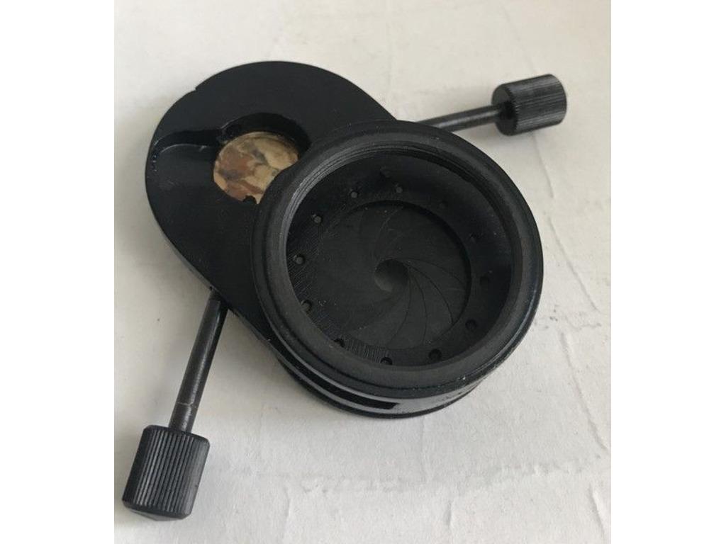часть конденсора КФ-4 со встроенной диафрагмой, элемент крепления линзы, диска - 2/5